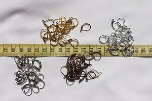 10x15mm-Brass-Lever-Back-Hoop-Earrings-Finding-Choose-From-4-Color-039-s-24pcs