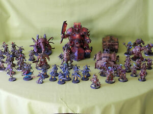 WARHAMMER-40K-PAINTED-CHAOS-ARMY-MANY-UNITS-TO-CHOOSE-FROM