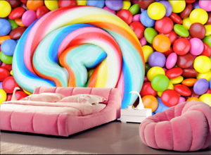 3D color Lollipop 834 Wallpaper Mural Paper Wall Print Wallpaper Murals UK Kyra