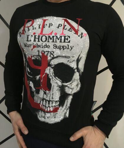 Philipp Plein Herren Pullover Herrenmode Sweatshirt Jumper Black Strick Sweater