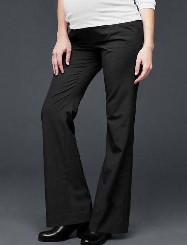 New Gap Maternity Pants Modern Boot Size 4 Black Retail $54.95 696175