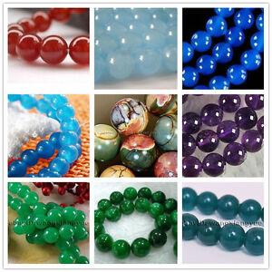 """New 6 8 10 12 14mm  Sri Lanka Moonstone Gemstone Loose Beads 15/"""" AAA"""