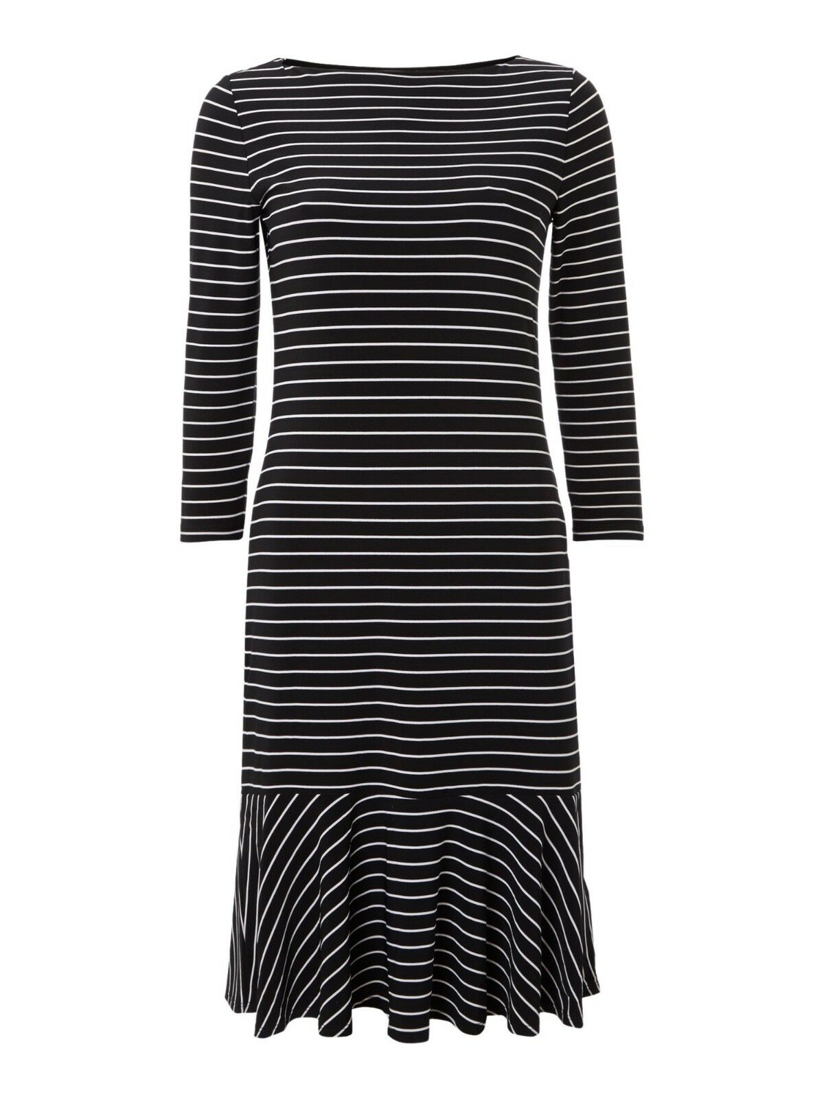 Nouveau Ralph Lauren Robe Noir Blanc XS