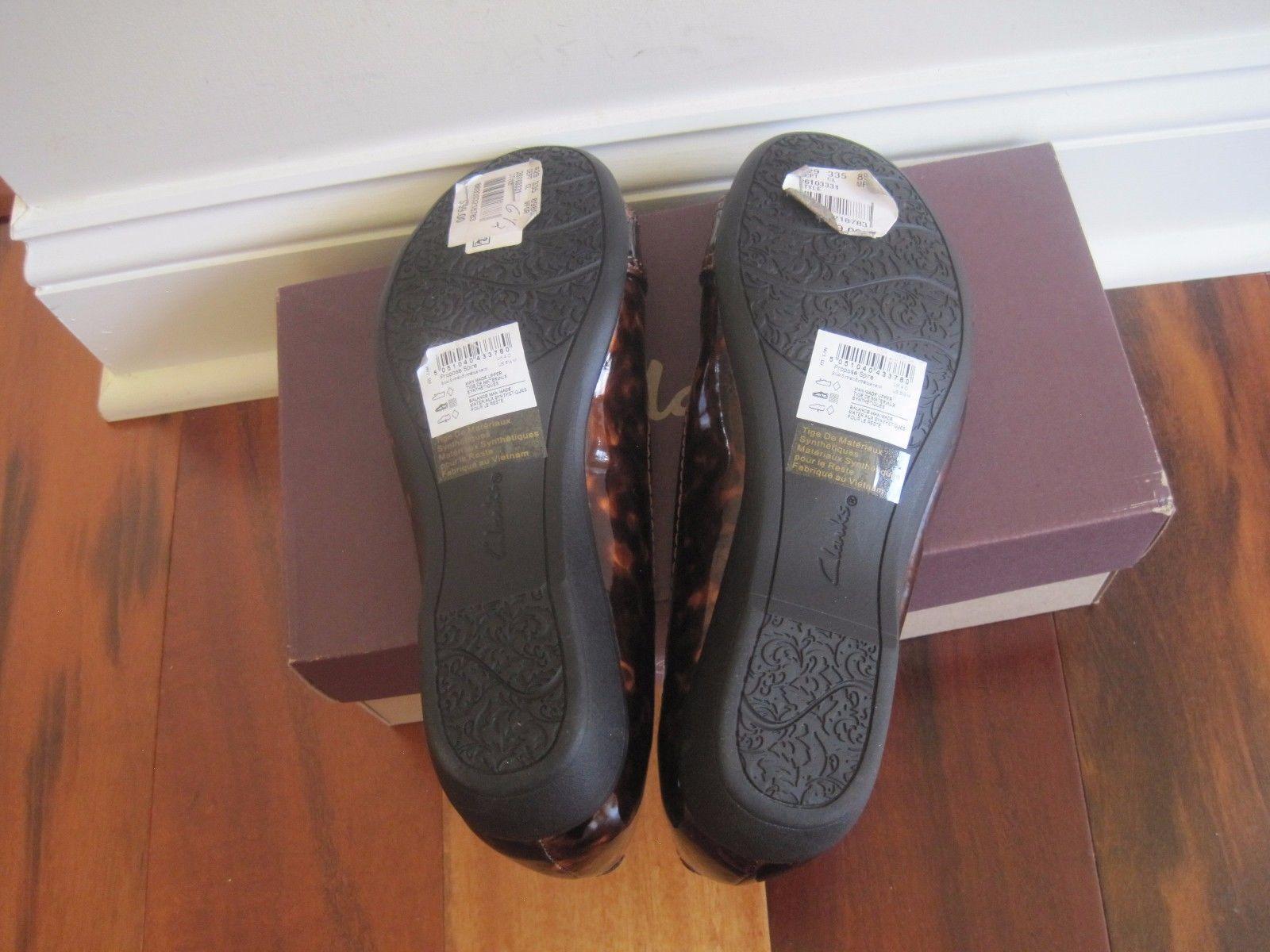 Nuevo Y en Caja Clarks Zapatos Planos sintético proponer Chapitel para mujer, sintético Planos marrón, talla 6.5M,  99 1c867e