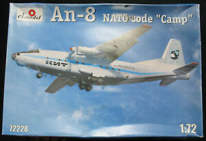 Amodel-72228-Antonov-An-8-Civil-NATO-Code-Camp-1-72-Flugzeug-Bausatz-Kit