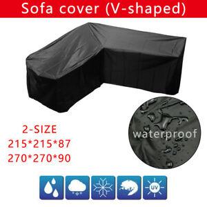 UK Waterproof Garden Rattan Corner Furniture Cover Outdoor ...