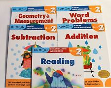 KUMON Workbooks Grade 2 Set: Math + Reading  (5 books) --FREE Expedited Shipping