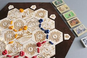 Details About Settlers Of Catan Board 3 4 Players Engraved Handmade Custom Wood