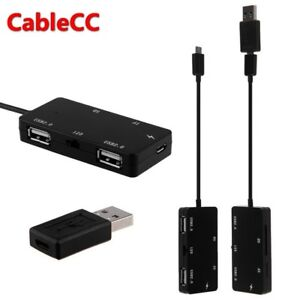 Cablecc-Micro-USB-OTG-Dual-Port-Hub-amp-TF-SD-Card-Reader-With-Charge-for-Tablet