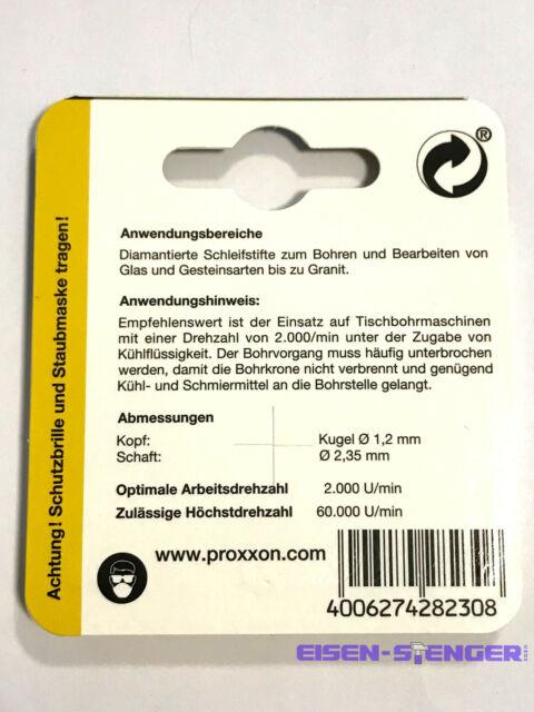 Proxxon 28230 Diamant-beschichtete Schleifstifte für Glas und Stein