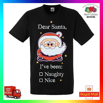 Dear Santa I/'ve been Naughty Christmas T-Shirt Adult Custom Cheeky