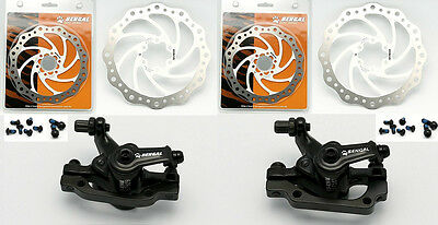 Bengal Helix 7B Bike Bicycle Hydraulic Disc Brakes 160mm F /& R Complete Kit Gold