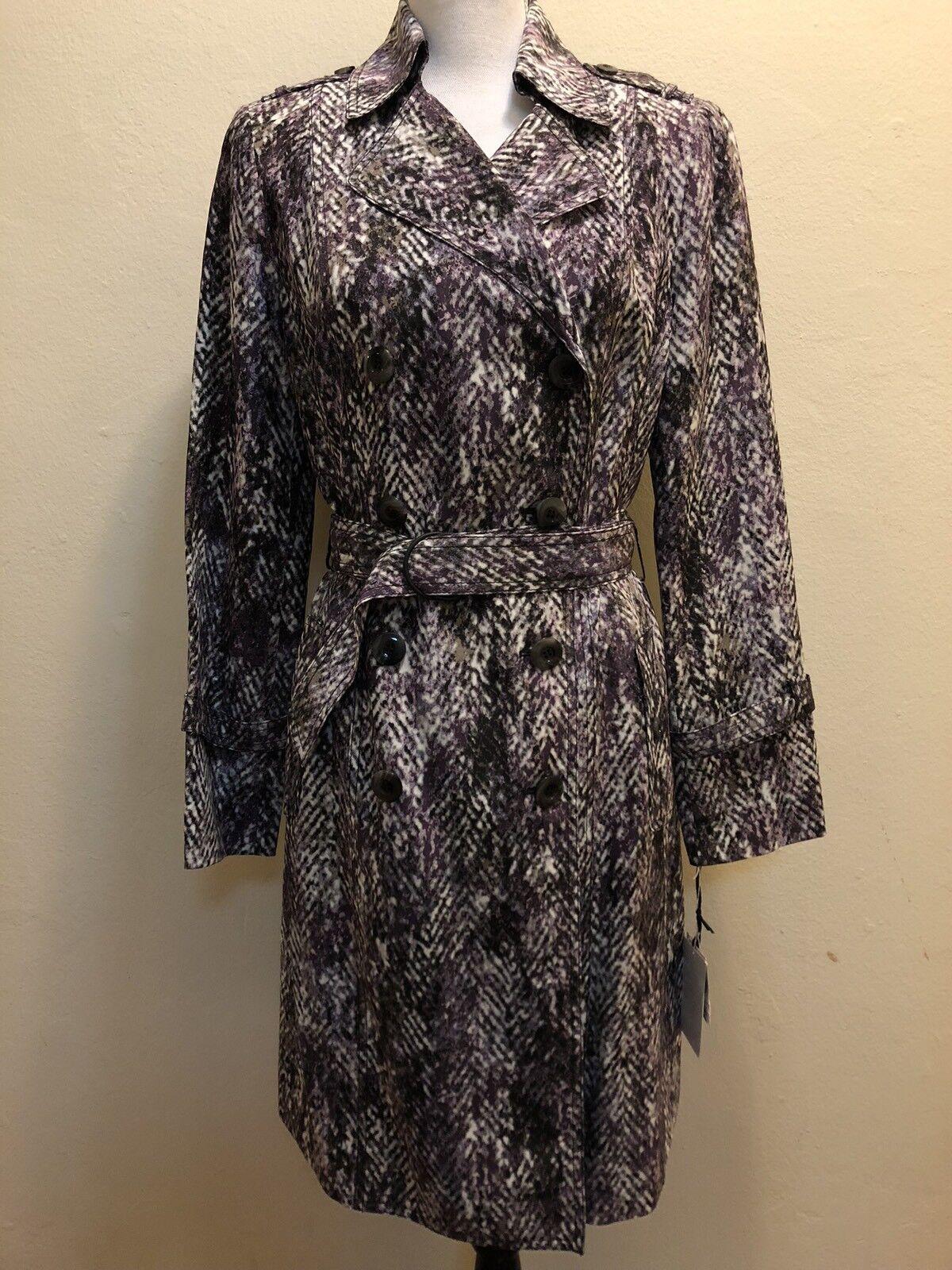 S A L E ️ ️ ️Worth New York Purple 100% Silk Coat Size Petite Retail  798.00