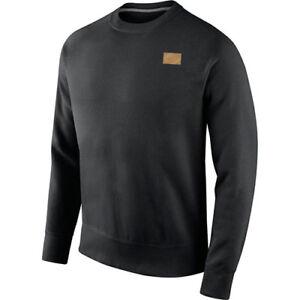 Nike uomo Fashion Ah8735 patch Felpa Crew da Nero Pull Over 010 Fleece qEw51FH