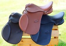 "12"" 13"" 14"" 15"" Children's Leather All Purpose English Saddle Tan Black or Brown"