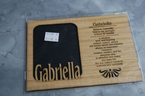"""DISCONTINUED Gabriella Name Picture Frame Holds 3.25/"""" x 4.25/"""" 5x7 Matte Only"""