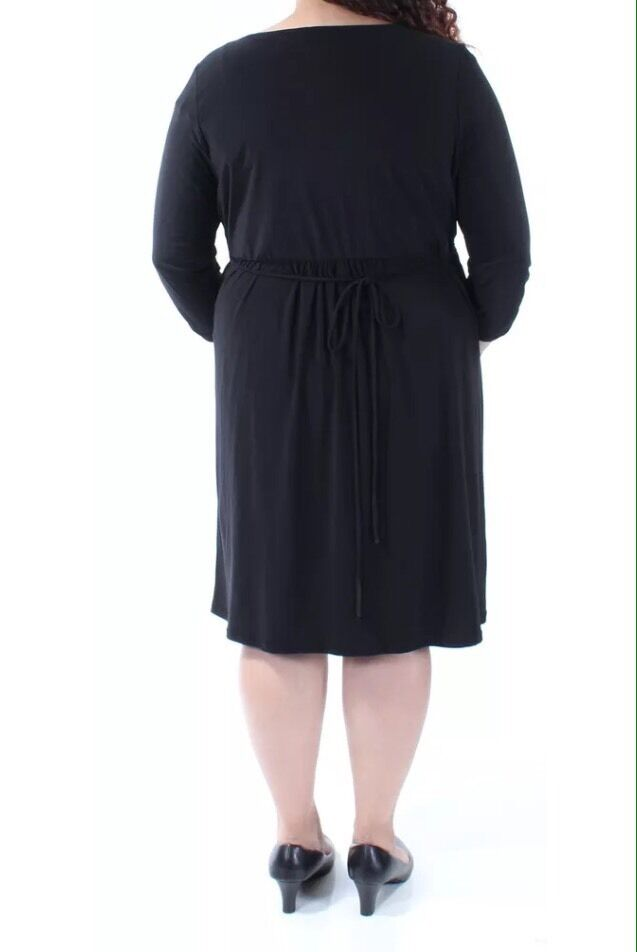 NY NY NY COLLECTION  70 Womens New Fuchsia Gathered Tie Sheath Dress Plus 3X  70 8dc0e4