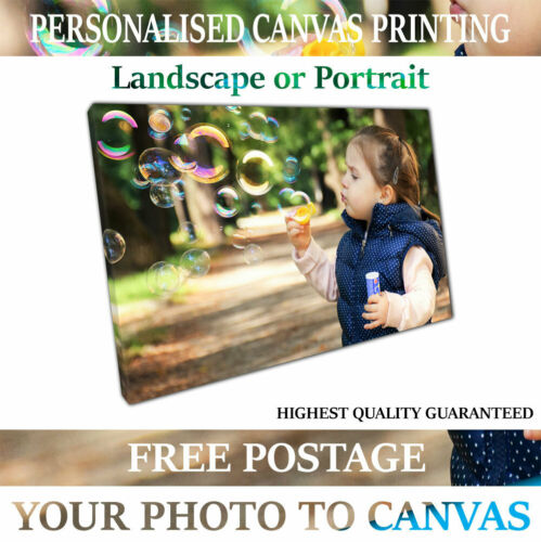 Print on Canvas Print Your Personalised Photo Picture Personalised Art