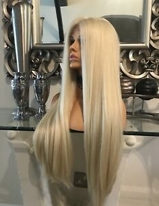 Human Hair Full Lace Wig Swiss Lace Silk Based Lace Blonde 360