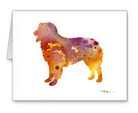 Australian Shepherd Note Cards With Envelopes
