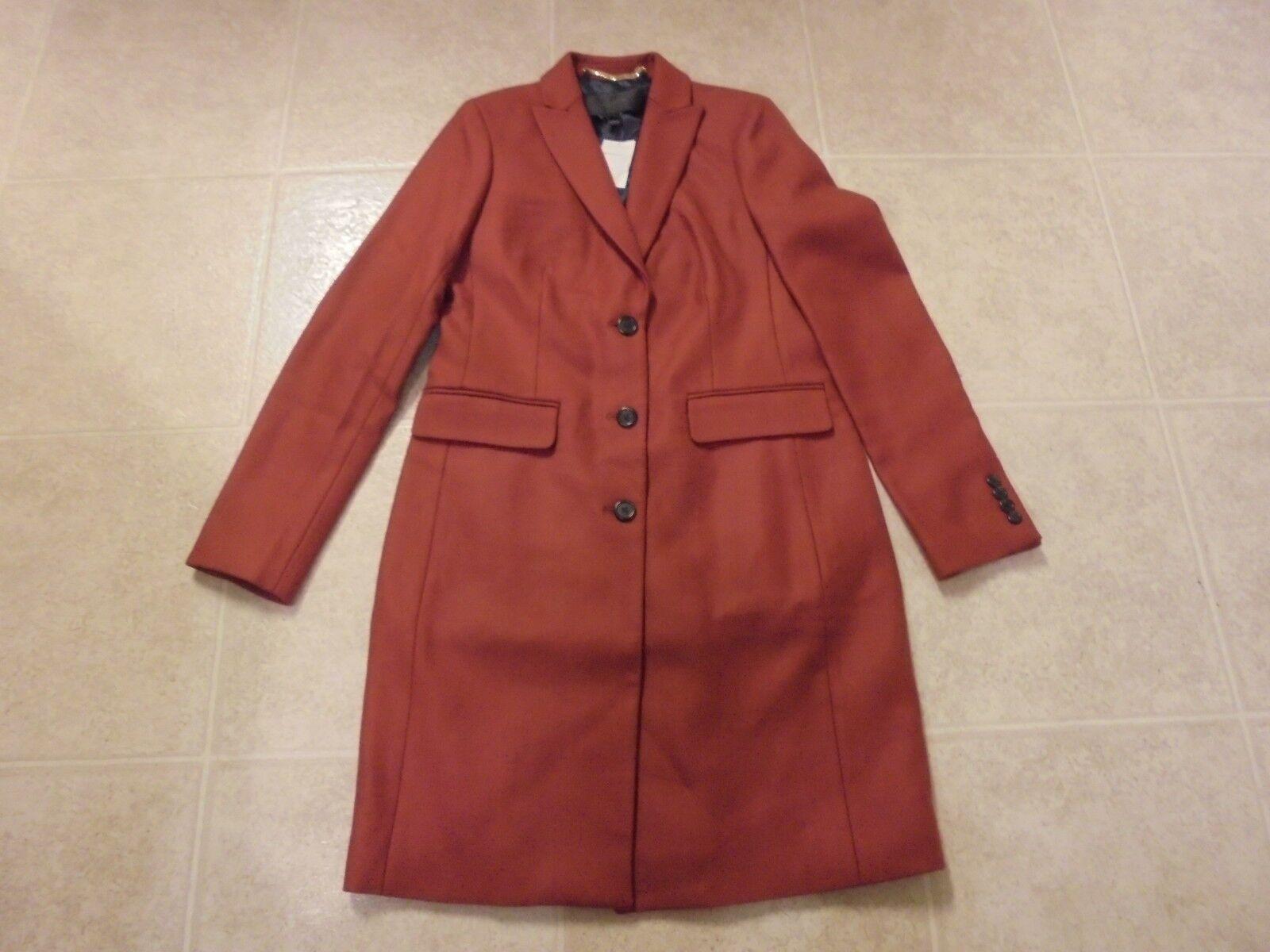 J CREW Parke Topcoat Nuevo con etiquetas talla 4   G7790 oscuro Cognac Chaqueta Abrigo  compras de moda online