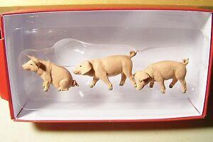 Preiser G 1:25 Scale 47048 THREE PIGLETS : SMALL PIGS : Farm Animal Figures