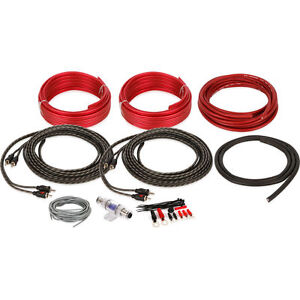 NEW! Belva BAK84 Complete 8 Gauge Amp Wire Kit w/4-Ch RCA Interconnect Cable