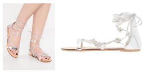 Ladies-Sandals-Miss-Selfridge-Pluto-Silver-Star-Size-Uk5-New
