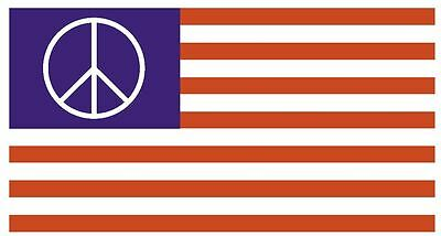 US PEACE MOVEMENT Vinyl Flag DECAL Sticker MADE IN THE USA F534