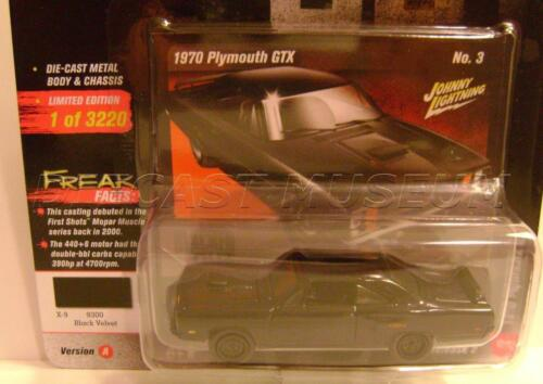 1970 /'70 PLYMOUTH GTX VERSION A BLACKED OUT STREET FREAKS JOHNNY LIGHTNING