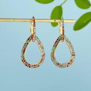 Women-Geometric-Crystal-Rinestone-Drop-Dangle-Earrings-Jewelry-Wedding-Gift-New