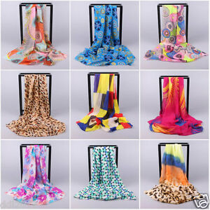 Women-039-s-Fashion-Long-Scarves-Ladies-Soft-Wrap-Shawl-Chiffon-Scarf-Neck-Stole