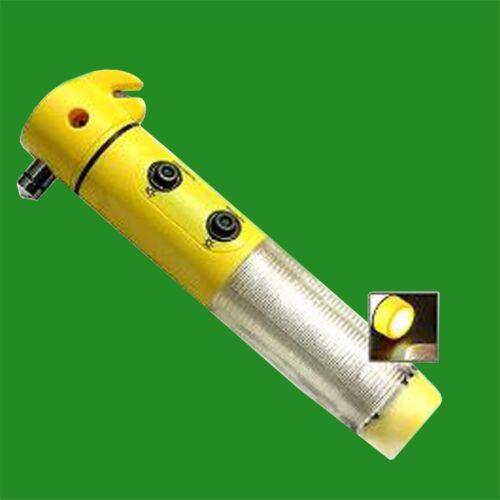 1x Car Emergency Crash Safety Tool Window Smasher Belt Cutter LED Beacon Torch