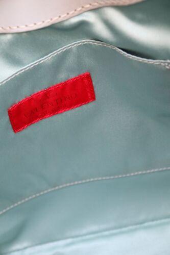 Borsa a azzurro in tessuto pelle crema tracolla in Valentino rrqFd