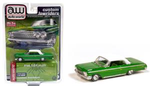 1:64 nuevo auto World mijo excl RR 1962 Chevrolet Impala SS lowrider Green