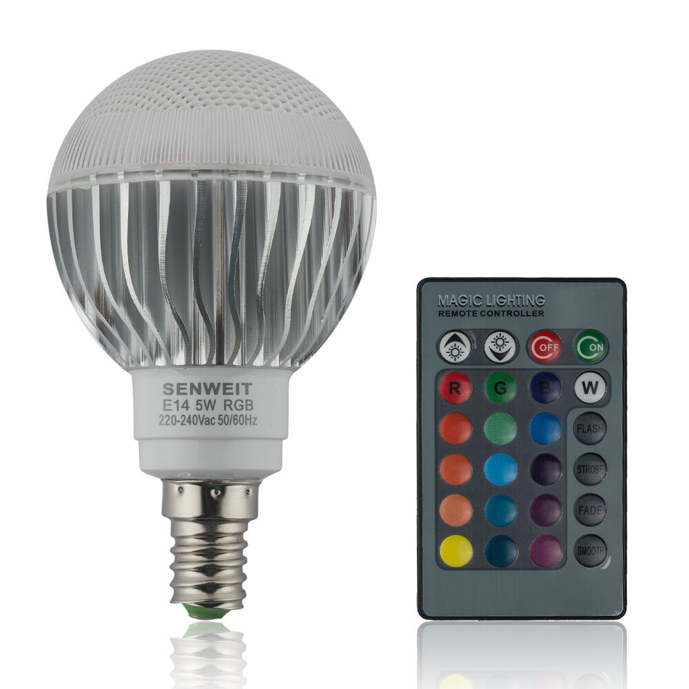 e14 rgb led bulb 5w dimmable light 16 colour changing disco mood lamp remote ebay. Black Bedroom Furniture Sets. Home Design Ideas