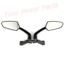 Black Side Mirrors For Motorcycle Street Sport Bike Honda Yamaha Suzuki YMT