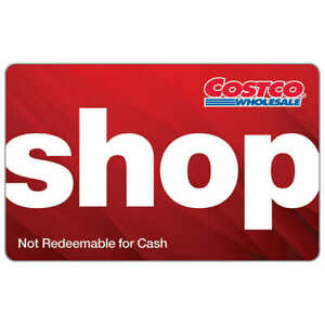 Costco Shop Card Gift Card $0 Zero Balance -- Warehouse access