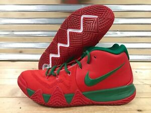 new arrival 55f12 f9097 Nike Kyrie 4 iD Basketball Shoes Red Green Christmas SZ 11.5 ...