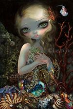 Jasmine Becket-Griffith art print SIGNED Soft Shell mermaid crab seashell ocean