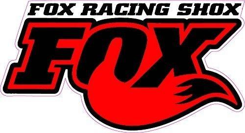 "Fox Racing Shox Red Tall Small Decal 3/"" x 2/"""