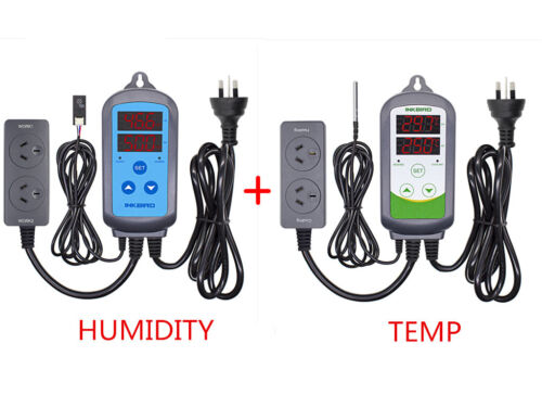 AU PLUG Digital Temperature control+ Humidity Controller Hygrometer thermostat
