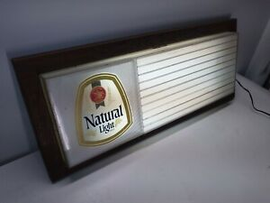 Vintage-Anheuser-Busch-Natural-Light-Beer-Light-up-Sign-33-034-X15-034-Excellent-Shape