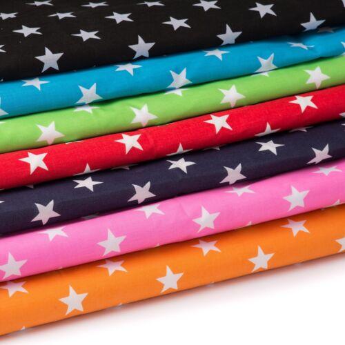 material de artesanía Cortinas ropa para niños Tela Polycotton estrellas brillantes estrellas
