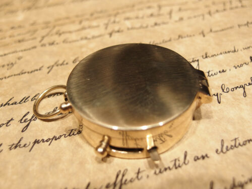 "Vintage Antique Style 2/"" Brass Heavy Maritime Navigational Compass"