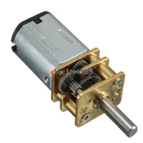 6//12V 300//600//30RPM Mini DC Metal Gear Motor with Gearwheel Shaft Diameter N20
