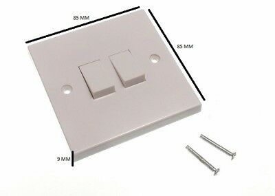 Building & Hardware Cooperative Double Wall Light Switch 2 Gang 2 Way Rocker Pack Of 2 High Safety