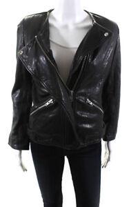 Etoile-Isabel-Marant-Womens-Leather-Solid-Motorcycle-Jacket-Black-Size-M