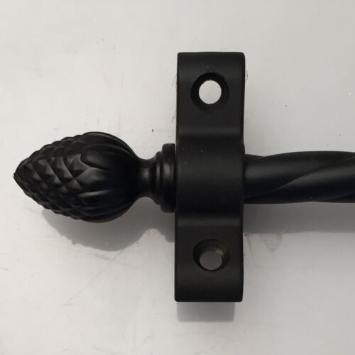 """SET OF 13 3//8/"""" WROUGHT IRON STAIR ROPE RODS PINE FINIAL R05ROP"""