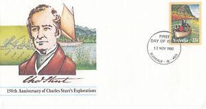(13849) Australie Entiers Postaux Fdc Charles Sturt 12 Novembre 1980-afficher Le Titre D'origine Remise GéNéRale Sur La Vente 50-70%